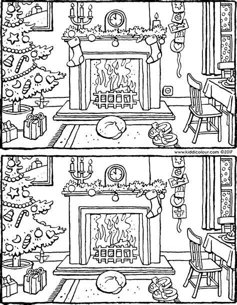 spot   differences  christmas kiddicolour