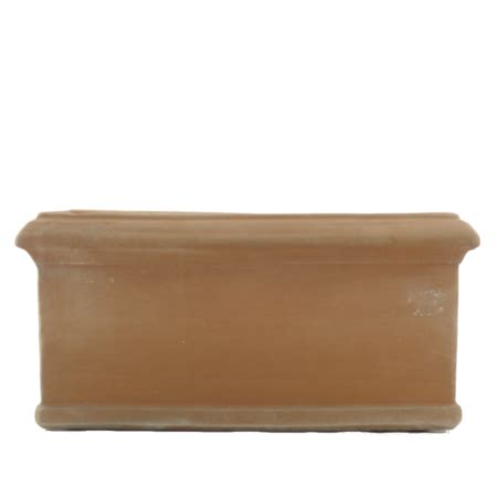 vasi in cotto toscano vaso rettangolare festonato in cotto toscano melo