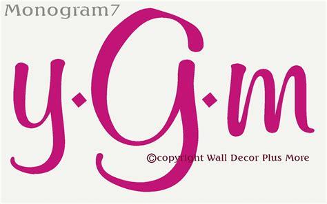 4 letter monogram decal monogram sticker personalized 3 letter monogram personalized wall decal stickers custom 44525