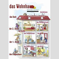 Das Wohnhaus (vokabular)  Deutsch Lernen (german, Allemand, Duits, Tedesco, Alemán) Pinterest