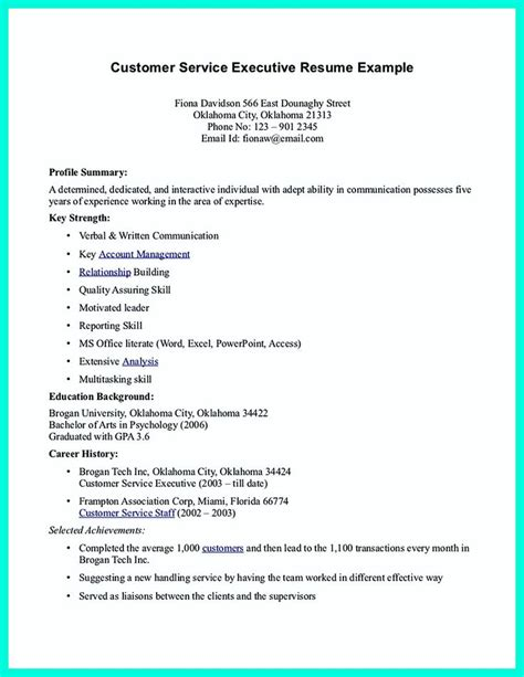 banking customer service representative resume