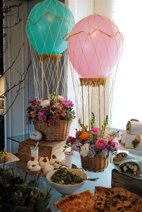 Mini Hot Air Balloon Centerpieces Designed By Puja Seth