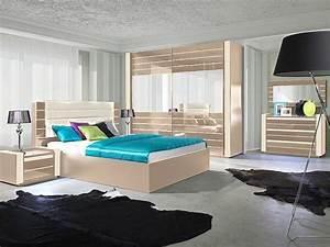 Design Schlafzimmer Komplett : schlafzimmer hochglanz cappucino bett schrank 2 x nako kommode u spiegel ebay ~ Bigdaddyawards.com Haus und Dekorationen