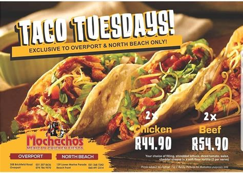 join mochachos  taco tuesday durban restaurants