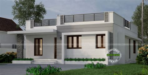 One Storey with Roof Deck Indian House Concept - Pinoy