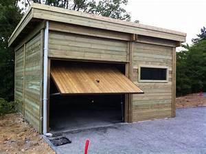 Garages th leman for Garage en bois autoclave