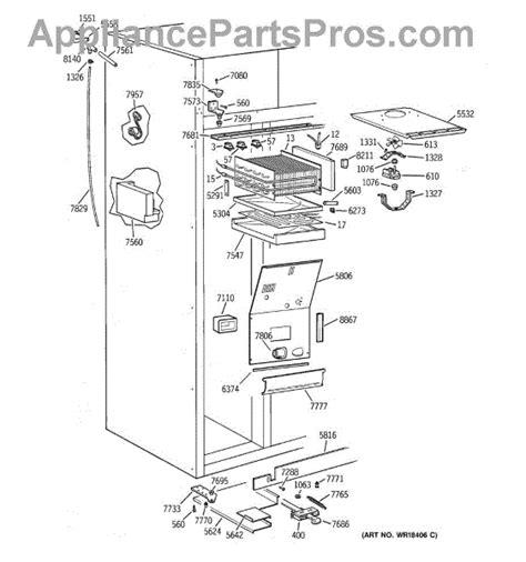 parts  ge zisbdca freezer section parts