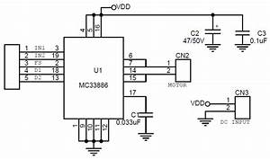5 Amp H-bridge Dc Motor Driver Using Mc33886