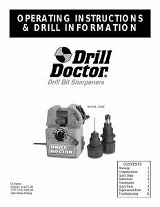 Drill Doctor 750sp User Manual