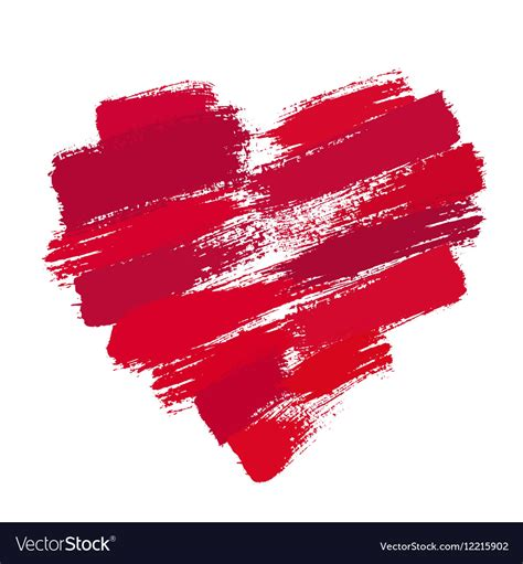 In this chapter we will look at the following all the stroke properties can be applied to any kind of lines, text and outlines of elements like a circle. Painted Heart from Brush Strokes Royalty Free Vector Image