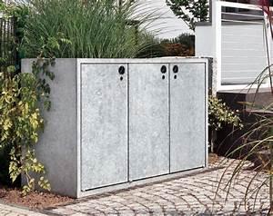 Mülltonnenbox Mit Paketbox : m lltonnenbox grau aluminium 1er 120l mit klappdach ~ Michelbontemps.com Haus und Dekorationen