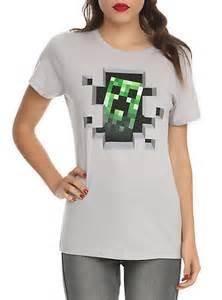 Minecraft Creeper Girl Shirt