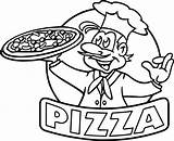 Pizza Coloring Pages Preschool Printable Getcolorings sketch template