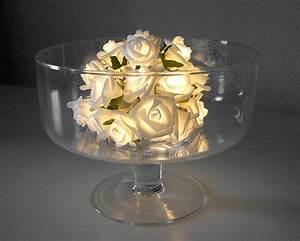 Guirlande Lumineuse Boule Rose : la guirlande lumineuse mini roses blanches piles d coration de table mariage mariage ~ Melissatoandfro.com Idées de Décoration
