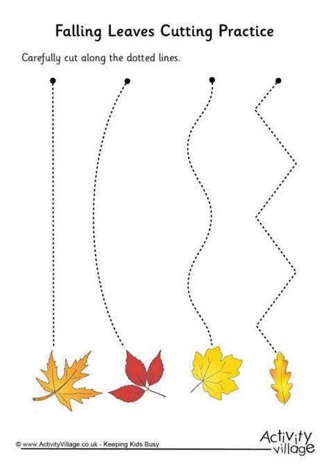 falling leaves cutting practice preschool worksheet 154 | ffeb5bd580f3a0459908e869f2030466 cutting exercises preschool cutting activities