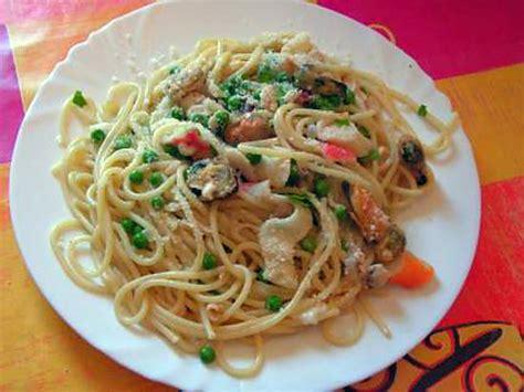 recette de spaghettis aux fruits de mer