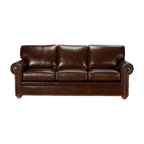 Ethan Allen Leather Furniture Care by Conor Leather Sofa Omni Brown Ethan Allen Us For The