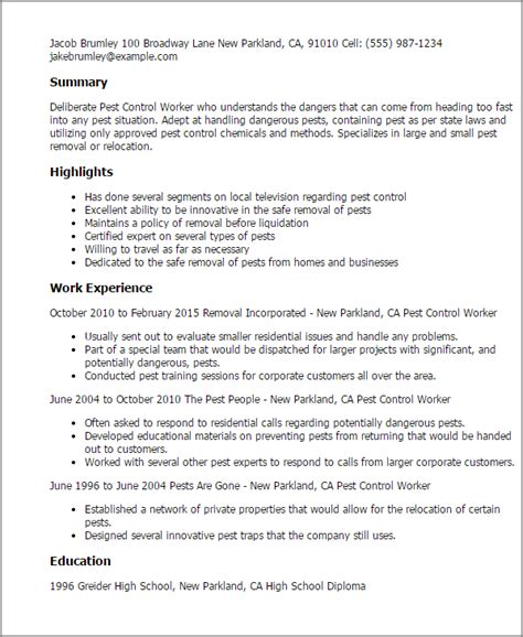 resume willing to travel professional pest worker templates to showcase your talent myperfectresume