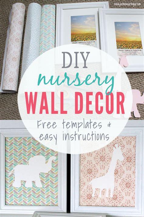 diy nursery wall art   budget easy cheap nursery decor