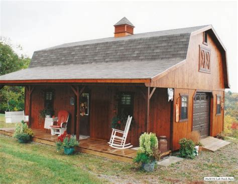 Barn With Porch by Hi Loft Porch Barn Style