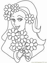 Coloring Girly Pages Printable Popular sketch template