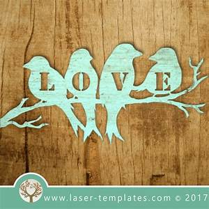 Christmas Word Templates Free Love Birds Laser Cut Template Online Store For Laser Cut