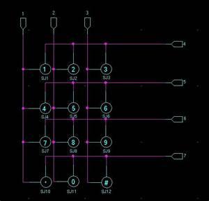 3x4 Matrix Keypad Id  3845