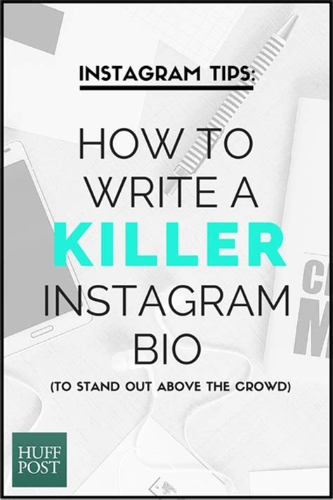 write  killer instagram bio  stand