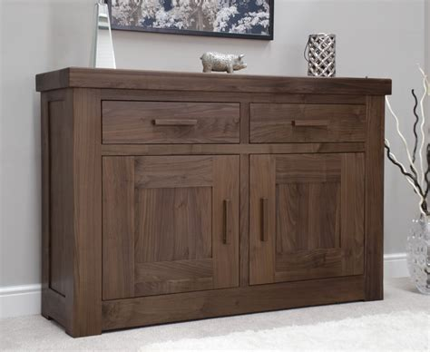 Small Contemporary Sideboard by Kendo Solid Modern Walnut Living Dining Room Furniture