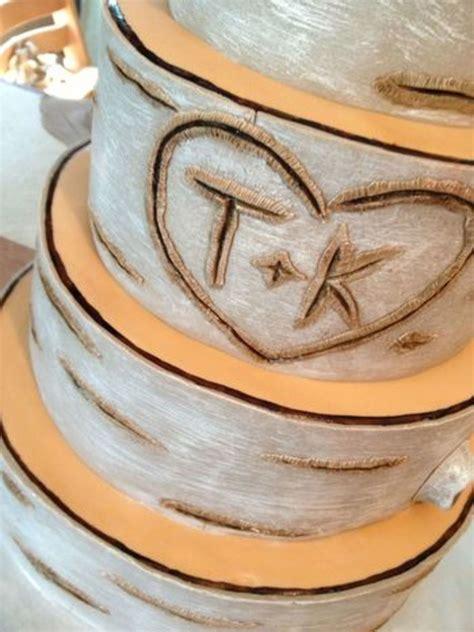 Birch Bark Wedding Cake Tutorial Birch Bark Tree Tutorial