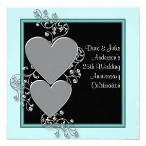 Birthday Invitation Design Funny 25th Wedding Anniversary Invitations