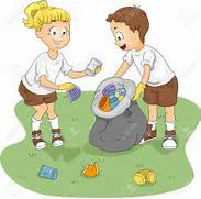 Illustration Of Kids Cleaning Up A Camp Stock Photo  Picture And      People Picking Up Trash Drawing