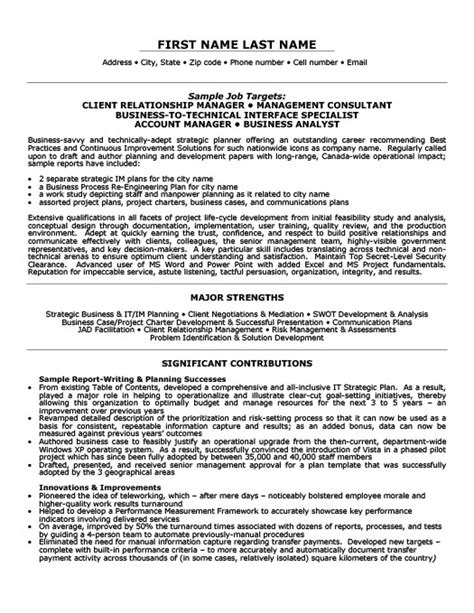 Business Relationship Manager Resume Exle by Client Relationship Manager Resume Template Premium Resume Sles Exle