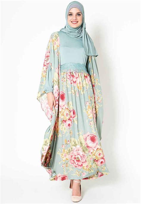 model baju gamis batik kombinasi terbaru desain unik
