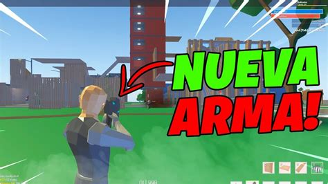 probando la nueva arma pistola explosiva strucid