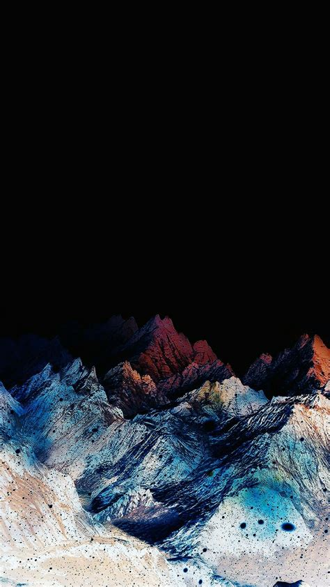 Black Wallpaper Iphone Mountain by Mountains Wallpapers For Phones In 2019 Papeis De