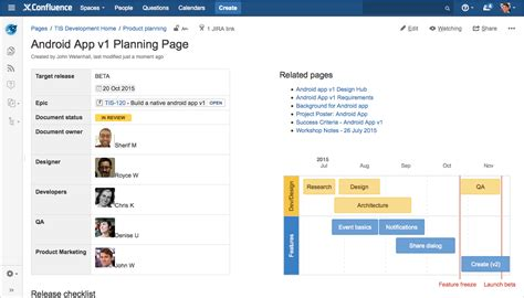 confluence create template how to build a release planning page in confluence atlassian blogs