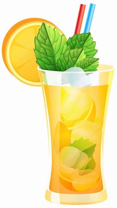 Cocktail Transparent Clipart Orange Background Drinks Silhouette