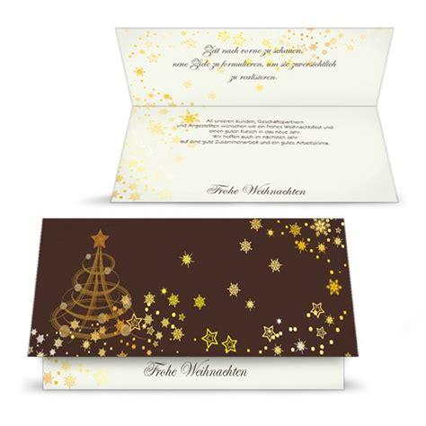 klassische weihnachtskarte  braun mit goldenen