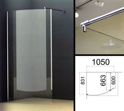Curved Wet Room Screens and Curved Glass Shower Partitions