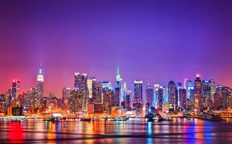 Skyline Background New York City Skyline Hd Wallpaper Wallpaper Wiki