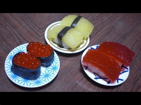 Popin Cookin #3  Sushi Shaped Candy (grape Flavor) Youtube