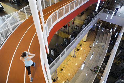 gyms rec center university track auburn college schools corkscrew offer gym indoor suspended whiz gee above ground level fitness club