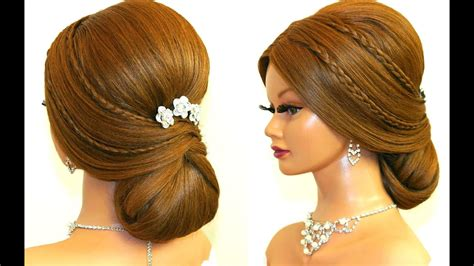 Bridal Hairstyle For Long Hair Tutorial. Romantic Prom