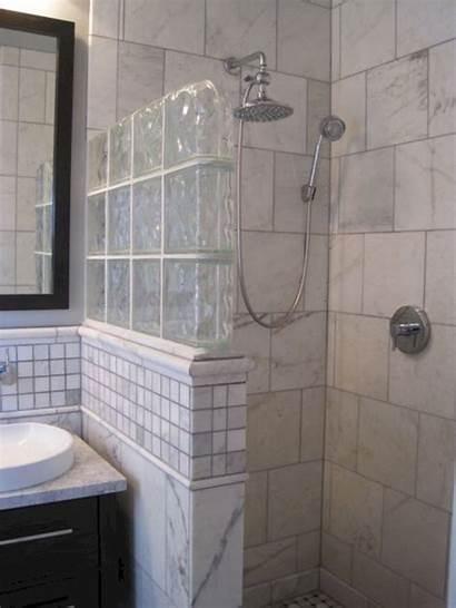 Shower Bathroom Showers Glass Block Doorless Bathrooms