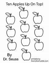 Apples Seuss Dr Ten Coloring Printable Preschool Worksheets Number Worksheet Math Kindergarten Apple Template Pdf Grade Suess Activities Az Teacher sketch template