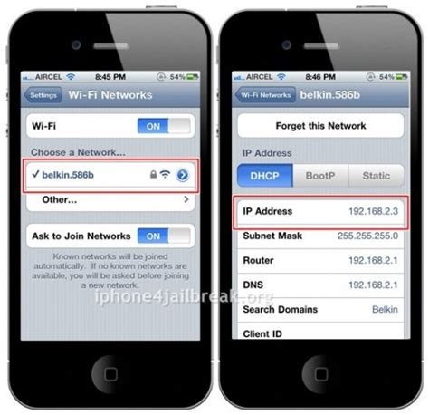 how to find ip address on iphone how to find ip address of iphone 4
