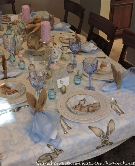 Spring Tablescape With Williams Sonoma Damask Bunny ...