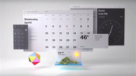 microsofts fluent design  start  slip  windows