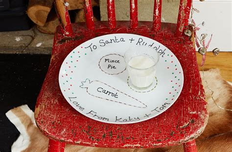 homemade santa plate goodtoknow
